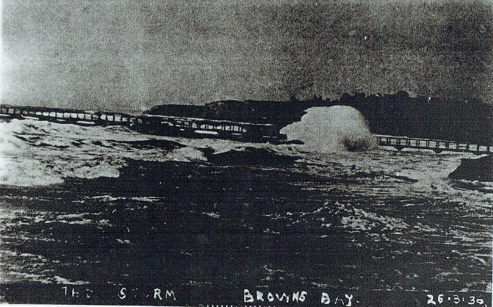 storm damage to wharf 1936
