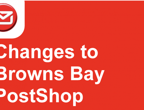 Changes to Browns Bay Post Shop from Monday 21st October 2019