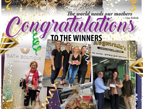 Winners of the SHOP LOCAL for Mother's Day Promotion
